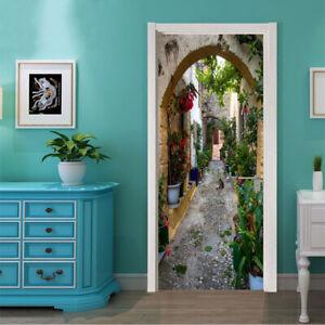 Self-adhesive Door Sticker PVC Wall Stickers Door Gate Vinyl Decal Mural Decor