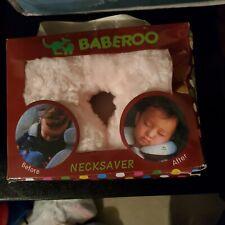 New Baberoo Infant Necksaver Ergonomic Neck Support Strollers Car Seats Pink