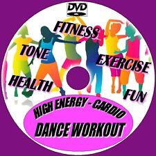 High Energy Cardio Danza Entrenamiento 15 Salud Fun Gimnasio Ejercicio Rutinas