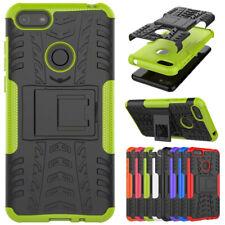 For Motorola Moto E6 G8 G7 Shockproof Hybrid Armor Rubber Kickstand Case Cover