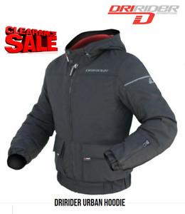 CLEARANCE! DRIRIDER Hoodie Motorcycle Jacket NEW Med rrp $299 Waterproof Casual