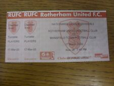 17/03/2000 Ticket: Rotherham United v Mansfield Town  (complete). If this item h