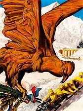 SPORT ADVERT CHAMONIX 1924 WINTER OLYMPIC GAMES BOBSLED EAGLE FRANCE LV3870