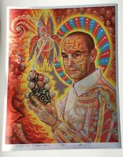 Rare Signed Foil Alex Grey Signed St. Albert Hofmann Lsd Psychedelic Drug TOOL