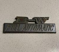 DATSUN Borg Warner 'B-W FULL AUTOMATIC', Badge, Genuine & Original Car Badge