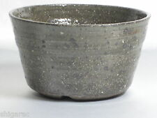 "Planter Japanese Bonsai Pot Shigaraki Stoneware /""Hihaku Kittate/"" d8cm"