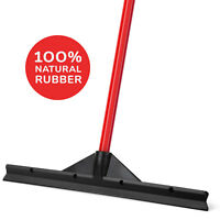 "Floor Rubber Squeegee Black 18"" / 46 CM Heavy Duty with Handle, Long Blade"