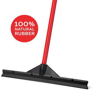 "Floor Rubber Squeegee Black 18"" / 46 CM Heavy Duty with Handle, Long Blade"