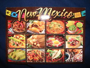 New Mexico Style Mexican Food Postcard