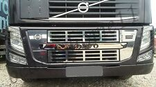 Set of 5 pcs.Mirror Stainless Steel Front Grid Covers for VOLVO FH/FM 2010-2014