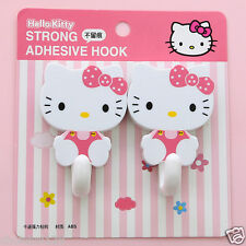 Hello Kitty Pink Bow Bath Kitchen Bedroom Hooks 1set of 2 pcs KK685