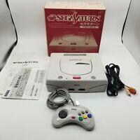 SegaSaturn Sega Saturn NTSC-J Works HST-3220 HST-0014 Console White Boxed