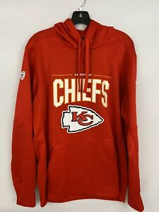 Men's Kansas City CHIEFS Red Nike THERMA Performance Pullover HOODIE Sweatshirt