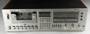 AS IS Sharp RT-3388A Computer Controlled Stereo Cassette Deck FOR PARTS REPAIR