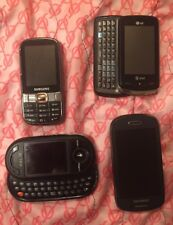 A Lot Of 4 Cell Phones AT&T  2 Samsung And Helio