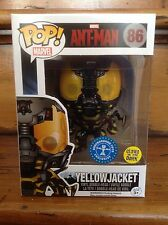Funko pop! ant-man veste jaune glow in the dark (roi) #86 exc vinyl figure