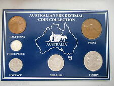 1960 AUSTRALIAN Pre Decimal 6 coin set IN SPECIAL CARD (very Nice)A PERFECT GIFE