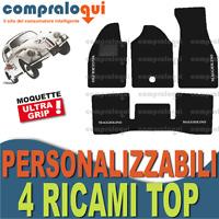 TAPPETINI AUTO SU MISURA PER VOLKSWAGEN MAGGIOLINO in MOQUETTE + 4 RICAMI TOP