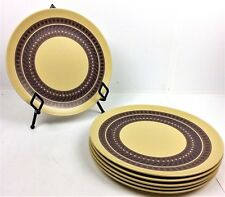 Texas Ware by PMC Melamine Dinner Plate Qty 6 Tan w/ Brown Pattern G3 Picnic BBQ