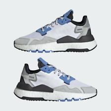 NEW Adidas Nite Jogger J Shoes Sneakers Youth White Real Blue Size 6Y US EE6440