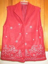 Embroidered Santa and Snowflakes size XL Vest