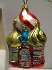 New ListingVintage Kurt Adler Polonaise Komozja St. Basils Church Glass Christmas Ornament