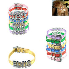 Pet Dog Cat Collar Diamante Rhinestone Buckle Personalized Letters Necklace 10MM