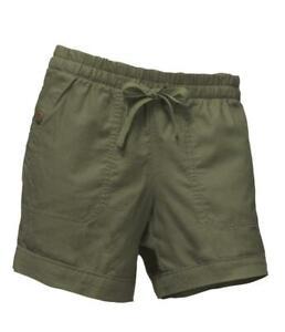 Women's The North Face Sandy Shores Cuffed Shorts Green - Medium Long