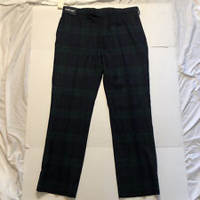 New listing NWT Polo Golf By Ralph Lauren Golf Pants Size 40 100% Wool Plaid Ivy League $285