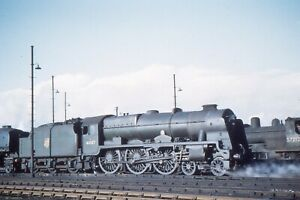 COLOUR-RAIL 35mm RAILWAY SLIDE: SC 336: CLASS 7P: 46107 ARGYLL & SUTHERLAND HIGH