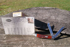 CASE XX 2000 RED TRAPPER KNIFE WAR BABY BOOM POSTCARD DOUBLE SHIELD 1/50 6207