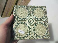 Antique Ceramic Tile Floral Art Nouveau Victorian Old Floral Flowers Spirals