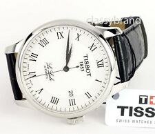 Tissot  T41142333 Le Locle Automatic Silver Dial Black Leather Strap Men's Watch