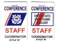 US Coast Guard Auxiliary Name Card with free mylar clip