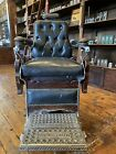 """Antique Oak 1910 """"Hercules"""" Barber Chair **Restored ** Ready To Be Put To Work"""