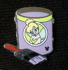 REAL Disney WDW HM SeriesTinker Bell Lavender Paint Can Cast Lanyard 2012 Pin