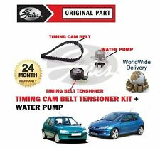 FOR PEUGEOT 106 206 75BHP 1.4 8V 1996--  NEW TIMING CAM BELT KIT + WATER PUMP