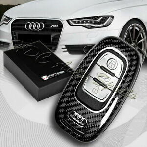 For Audi S3 S5 S6 R8 TT Q3 Q5 100% Real Carbon Fiber Remote Key Shell Cover Case