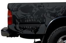 Vinyl Graphics Decal Wrap Kit fits 1995-2004 Toyota Tacoma TRD Double Skull GRAY