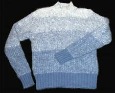White Stag Graduated Blue White Color Angora Blend Crew Neck Sweater Wms M Exc