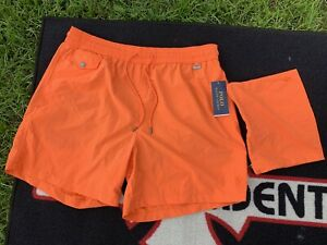 Polo Ralph Lauren Lined Swim Trunks NWT With Matching Nylon Zip Bag