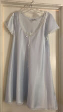 Christian Dior Night Gown, Blue Satin and Lace  Large - New (w/out Tag)