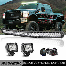 """For 2004-2018 FORD F150 LED Light Bar 52"""" Curved Combo Offroad Lamp Upper Roof"""
