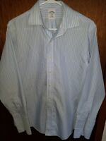 Brooks Brothers Dress Shirt 15 1/2 - 33 346 Slim Fit Non Iron Striped French