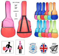 """Colour Classical Acoustic Guitar Bag Case 34"""" to 39"""" Back to School 5mm Pad Kids"""