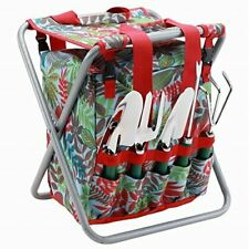 5 Pcs Garden Tool set with tote and folding seat and detachable storage tote