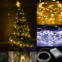 30/50/100 LED String Copper Wire Fairy Lights Battery Powered Waterproof Xmas