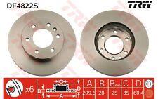 TRW Disco de freno (x2) Antes 300mm ventilado SEAT RENAULT CLIO DF4822S