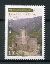 French Andorra 2017 MNH Castles Europa Castell Sant Vincenc Enclar 1v Set Stamps