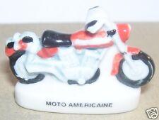 RARE CHARM MOTO USA HARLEY DAVIDSON ROUGE FEVE PORCELAINE 3D 1/87 HO NEUF